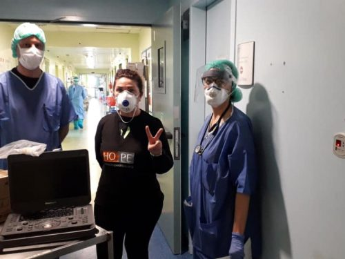 terapia intensiva Hope Onlus consegna ecografo Lodi