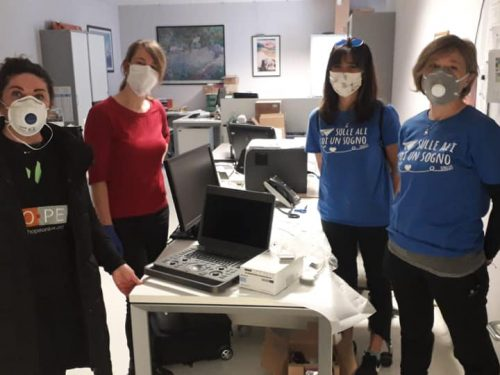 terapia intensiva Hope Onlus ecografo Bergamo